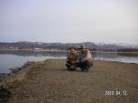 宮島沼にて