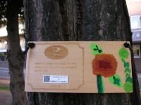 栗の木の標識