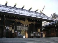 大寒の北海道神宮