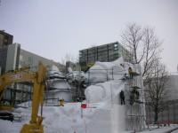 自衛隊の雪像作成部隊