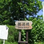 ダムへの標識