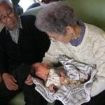 おじいちやんとおばあちやんに見守られて