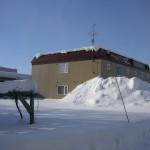 グレースわきに積み上げられた雪
