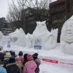 子供に人気の小雪像