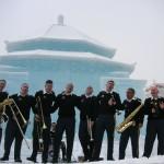 在日米陸軍軍楽隊のジャズ演奏