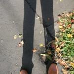 こんなに長い私の足の影