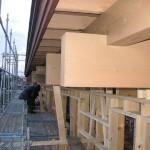 二階の木組み