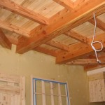 居間の天井の梁