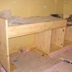 手造りのキッチン台