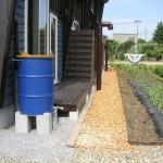 各戸に1個 雨水タンク