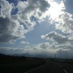 遠く札幌方面が霞んでいます