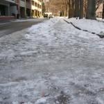 凍て道 つるつる