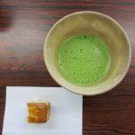 お抹茶と手作りカステラ