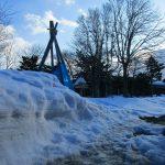 2019.3.8 融雪中の庭
