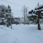 歩道も雪に覆われて