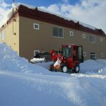 アパートの除雪中